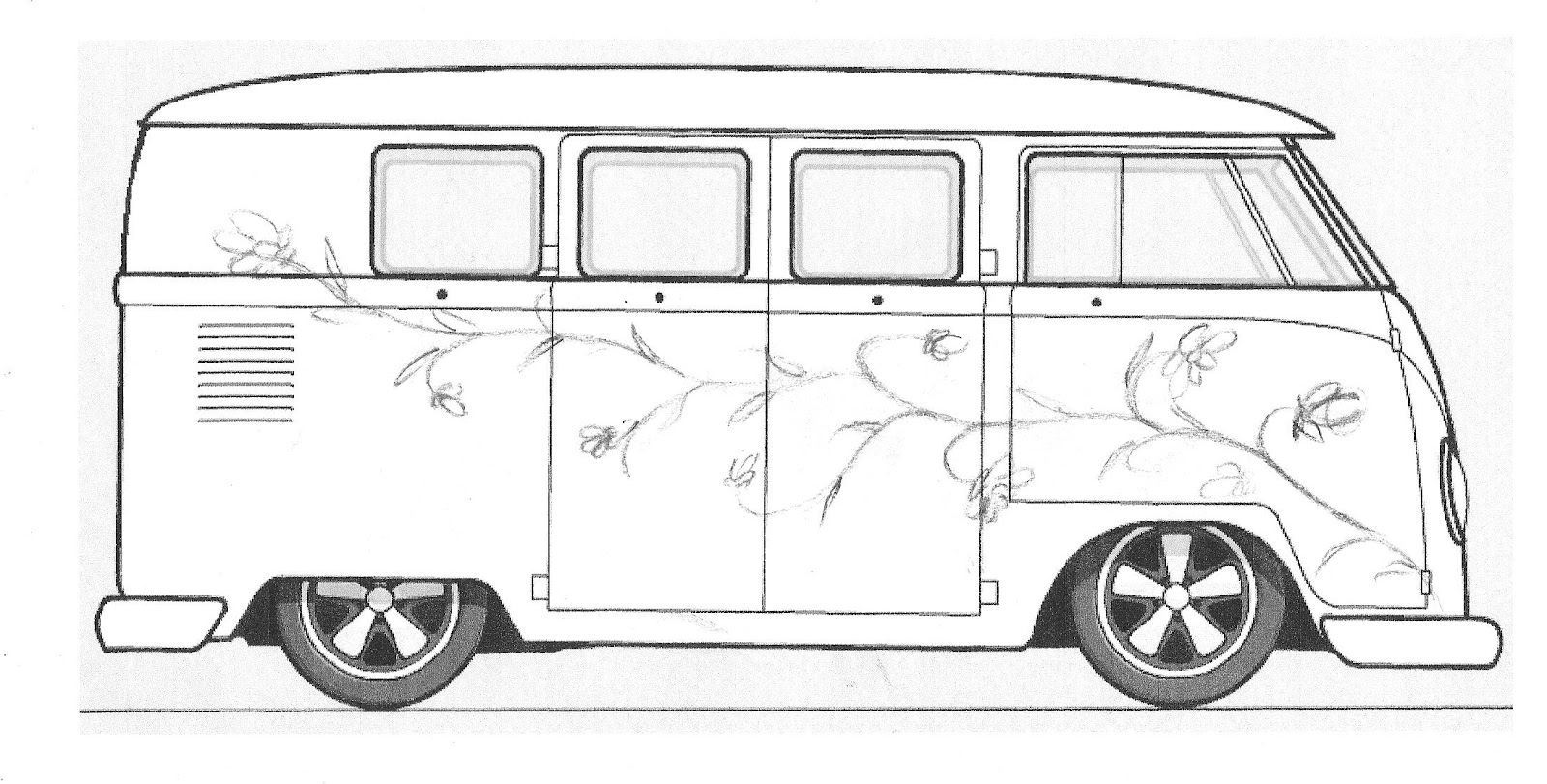 Pauls Splitscreen Van Project Custom Paint Design