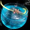 otro de los cockteles azules del mago del gin tonic