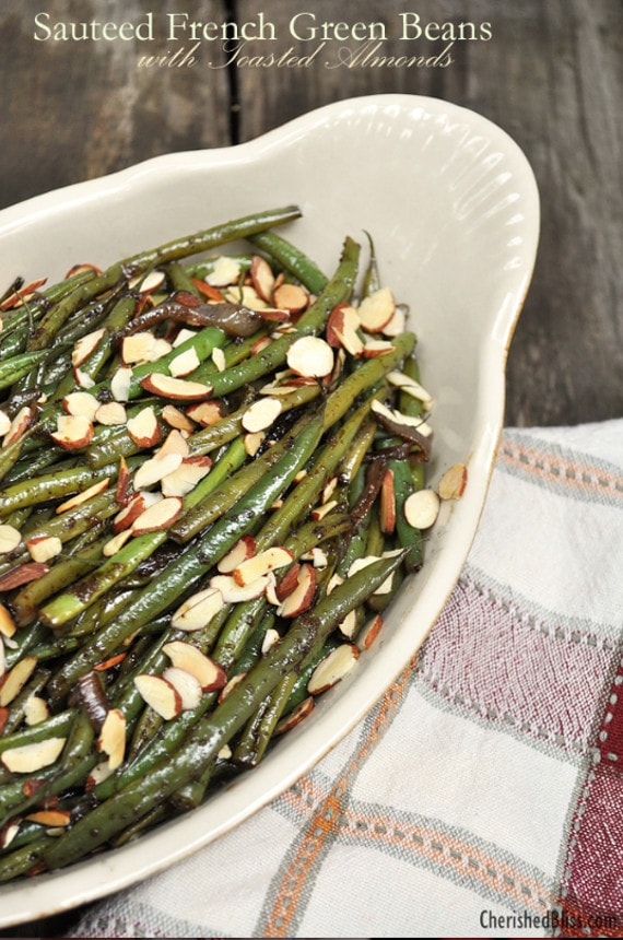 Sautéed French Green Beans with Toasted Almonds from Cherished Bliss