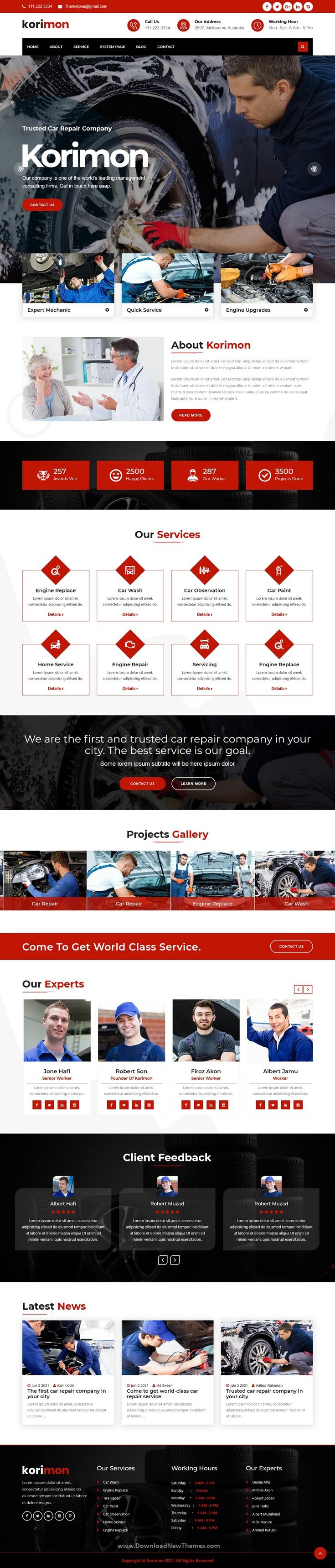 Car Repair Responsive HubSpot Theme