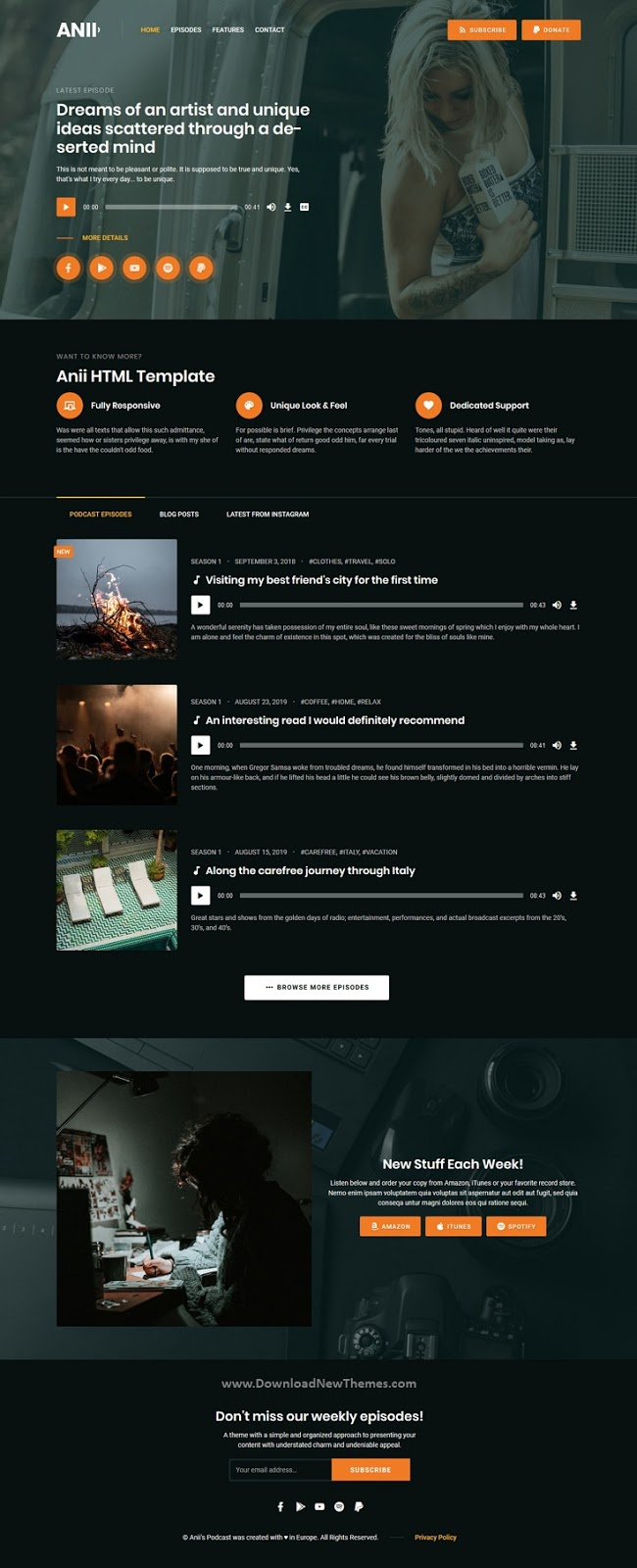 Audio Podcast HTML Site Template