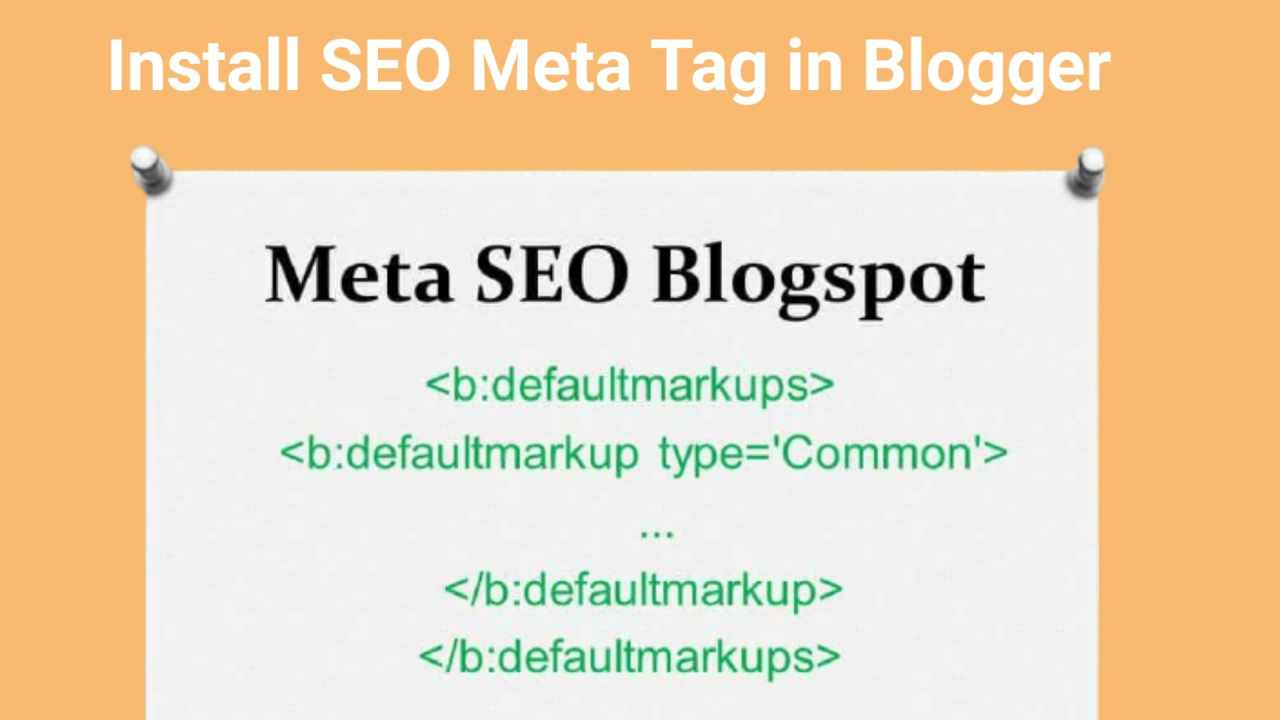 how add meta tags in blogger