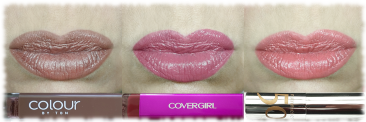 Brown, pink & coral lips as detailed below