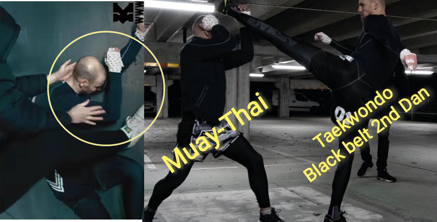Taekwondo vs Muay Thai Underground Street Fight Knock out ...