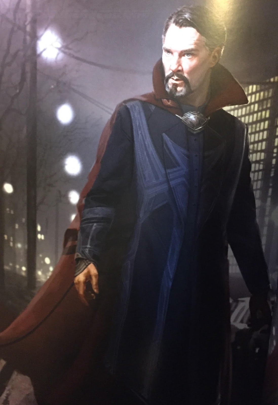 doctor strange  the art of the movie book reveals beautiful concept art of stephen and his cloak