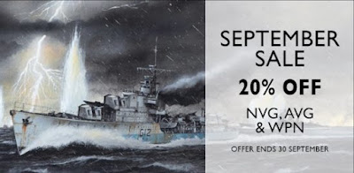 September 2017 Sale - 20% Off AVG, NVG & WPN