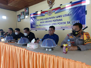 Kapolsek Masamba Hadiri Reses Anggota DPRD Luwu Utara Dapil I. Tentang Pelaksanaan APBD Pokok Ta.2022