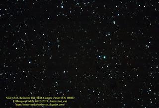 Astrofotografía de la nebulosa Ojo de Gato