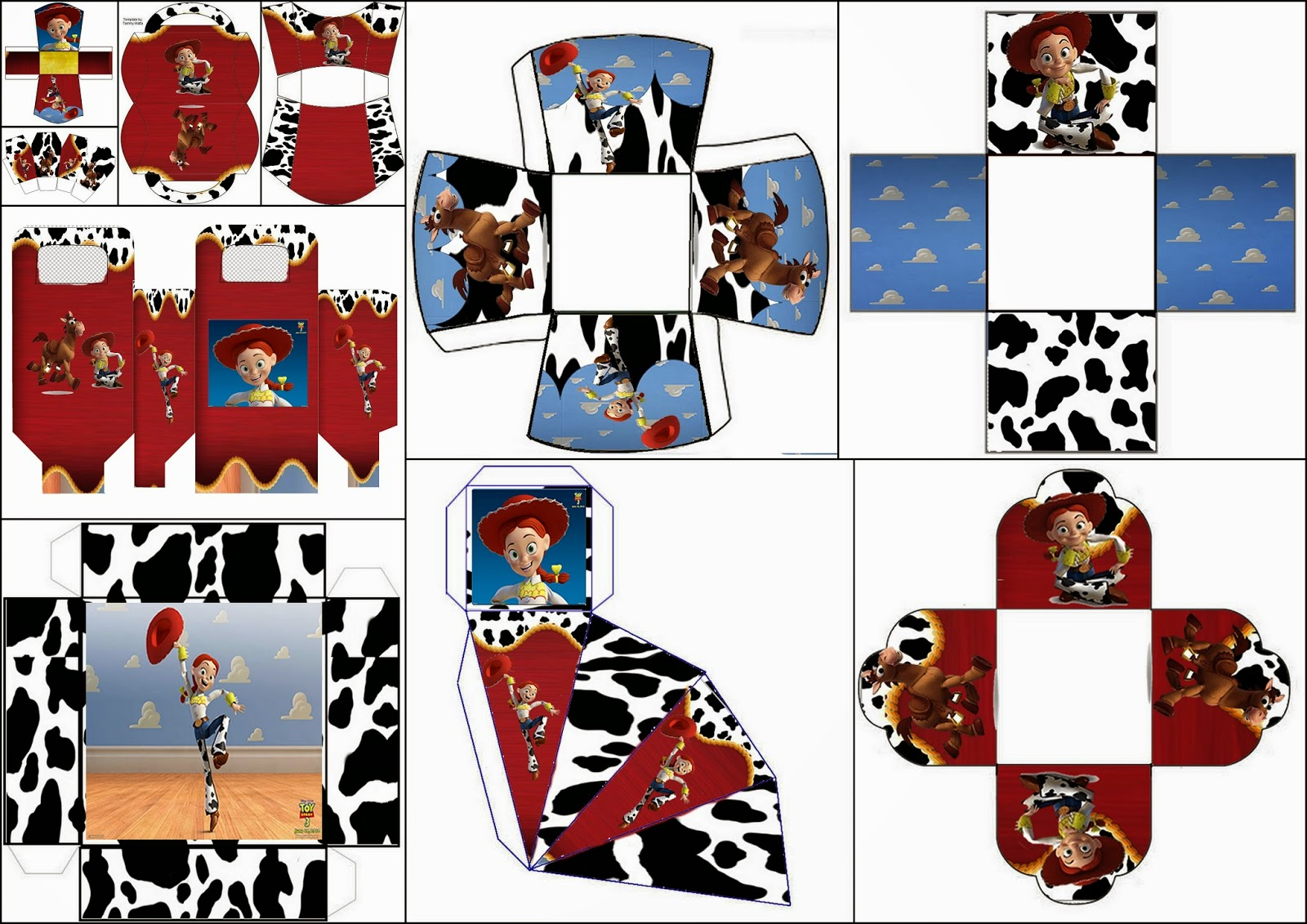 Jesse Of Toy Story Free Printable Boxes