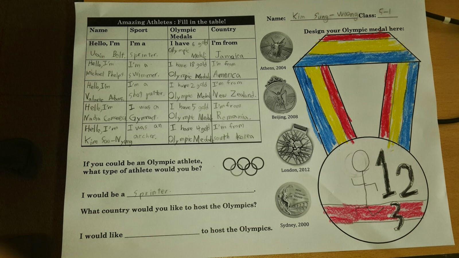 Amazing Athletes Ppt Free Amp Olympic Medal Worksheet