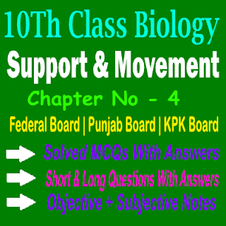 KPK Fderal Board And Punjab Board 10 Class Biology Notes Free Download In PDF