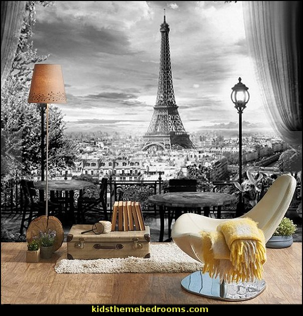 Paris Black & White Wallpaper mural  paris bedroom - Paris themed bedroom ideas - Paris style decorating ideas - Paris themed bedding - Paris style Pink Poodles bedroom decorating -  French theme Paris apartment furniture - Paris bedroom decor - decor Paris style French Poodles - room decor french poodle - french decor bedrooms - Paris Postcard bedding - Paris themed teenage bedroom ideas - Paris eiffel tower decor - decorating ideas for paris themed bedrooms - Paris Inspired Nursery - Paris bedrooms - Poodles in Paris