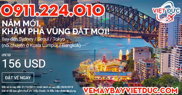 Khuyến mãi năm mới giá 156 usd từ Air Asia