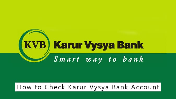 KVB Bank Account Balance Check Number