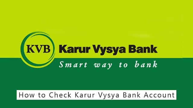 How to Check Karur Vysya Bank Account Balance