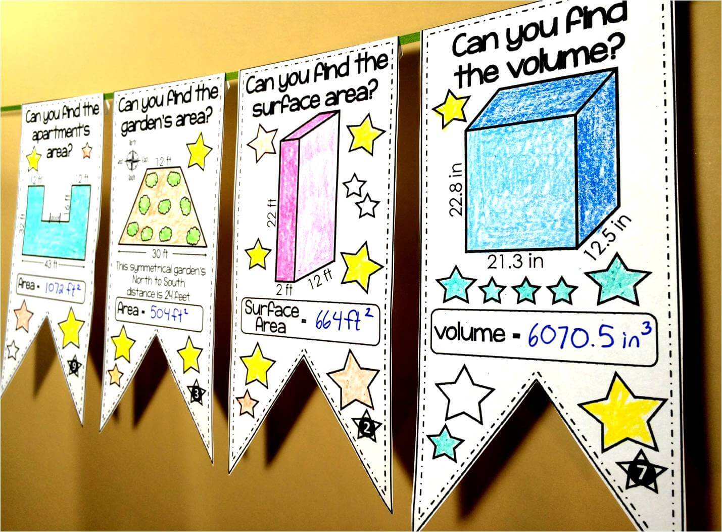 Scaffolded Math And Science Math Pennants Are A Fun Way