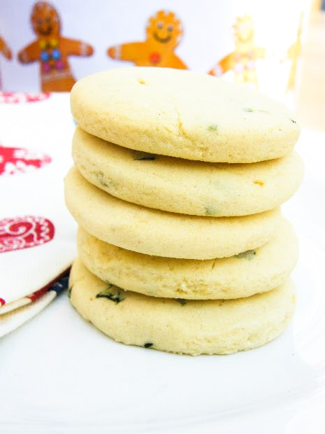 Stack of Lemon and Sweet Basil Shortbread