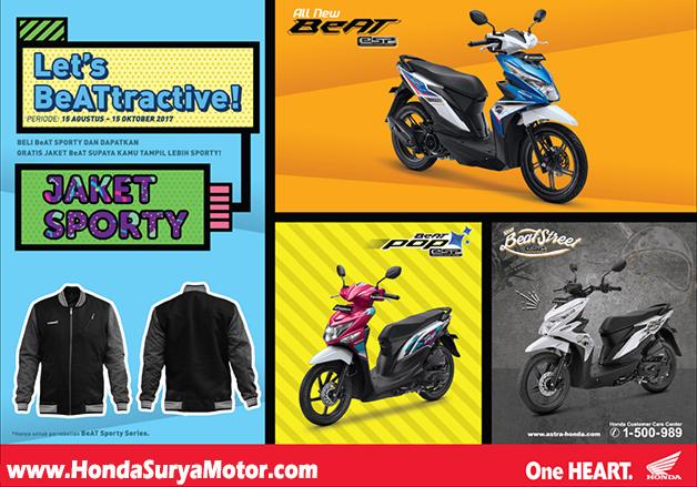 Promo Spesial Gift Jaket Exclusive Beat Sporty Honda Sejahtera Mulia Motor Cirebon