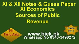 XI Economics Sources of Public Revenue