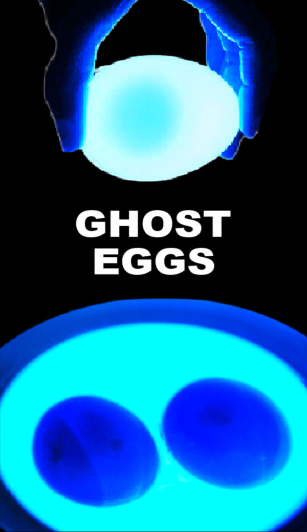 Wow kids with science and make ghost eggs! #ghosteggs #ghostactivities #halloweenactivitiesforkids #glowinthedark #scienceexperimentskids #growingajeweledrose