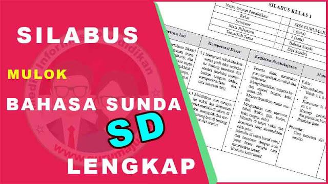 Download Silabus Mulok Bahasa Sunda SD Kurikulum 2013 Terbaru
