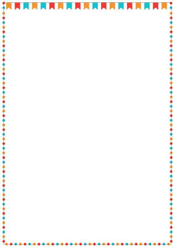 caratula para cuadernos con margenes de estilo fiesta