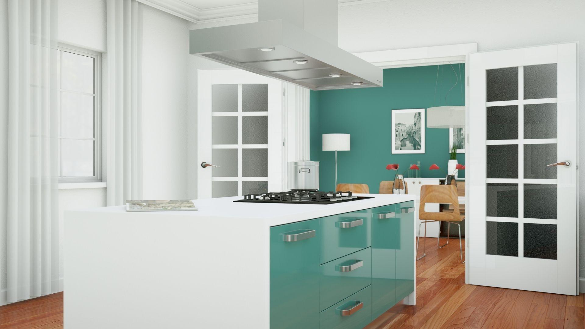 kuchnie w kolorze zieleni