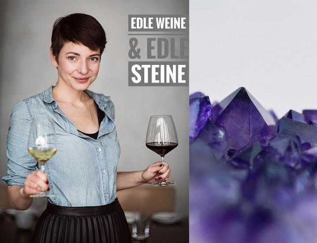 Wein- und Schmuckpräsentation Edle Weine und edle Stein