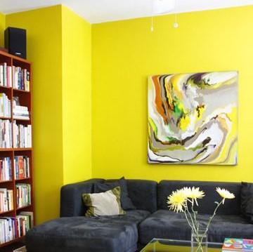 Ruang Tamu Warna Kuning Cerah