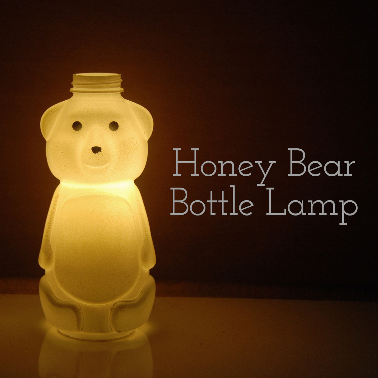 The Pink Doormat: Honey Bear Bottle Lamp