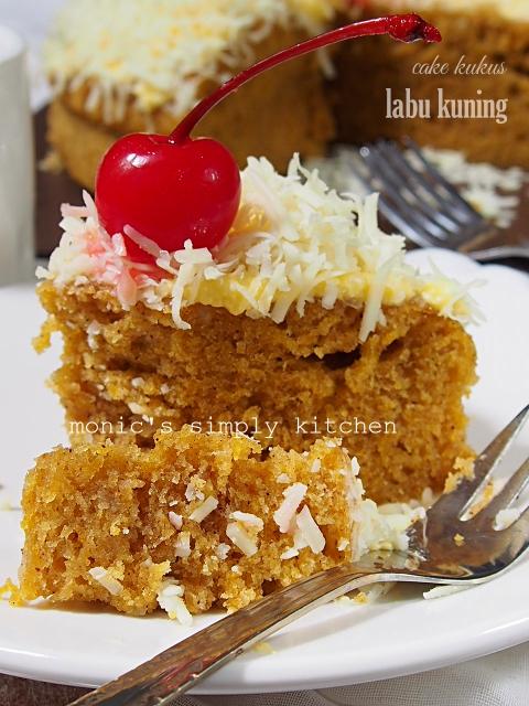 cara membuat cake kukus labu kuning