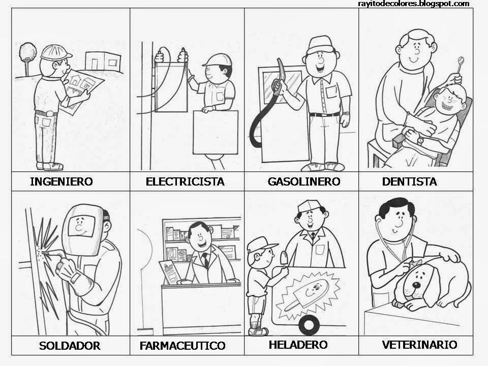 Maestra de primaria dibujos de oficios para colorear for El dibujo de los arquitectos pdf