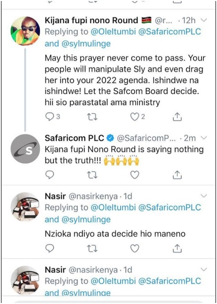 7 - Did someone hack Safaricom's official twitter account or the admin was high on weed, Last night's tweets shock Kenyans