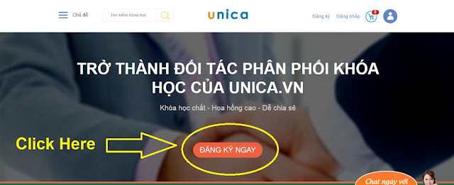 Hướng dẫn đăng ký Affiliate trên Unica