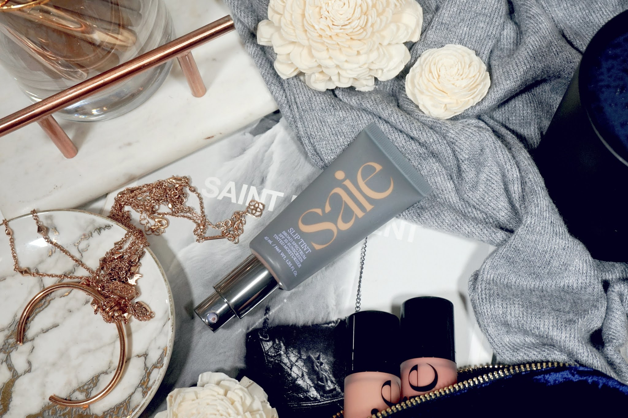 Saie Slip Tint Dewy Tinted Moisturizer SPF 35 Sunscreen Review and Swatches