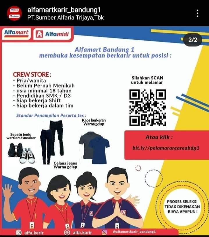 Lowongan Kerja PT. Sumber Alfaria Trijaya