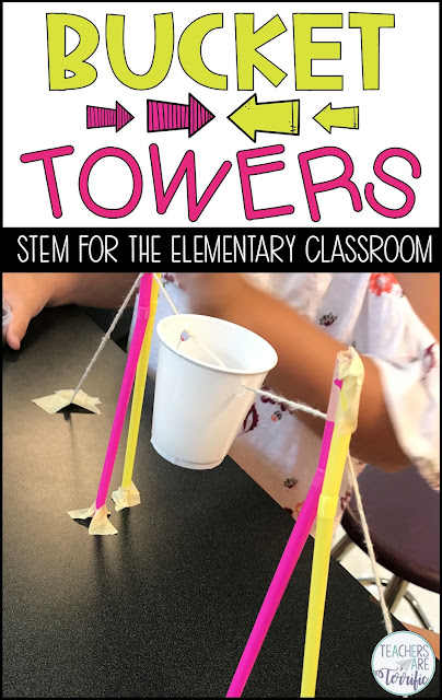 This is a STEM Challenge all about a tower with a unique feature. We call these Bucket Towers and it's a favorite challenge for a reason. It involves some great problem solving and the design must also include a reason a tower would need a bucket! Check this post for more!