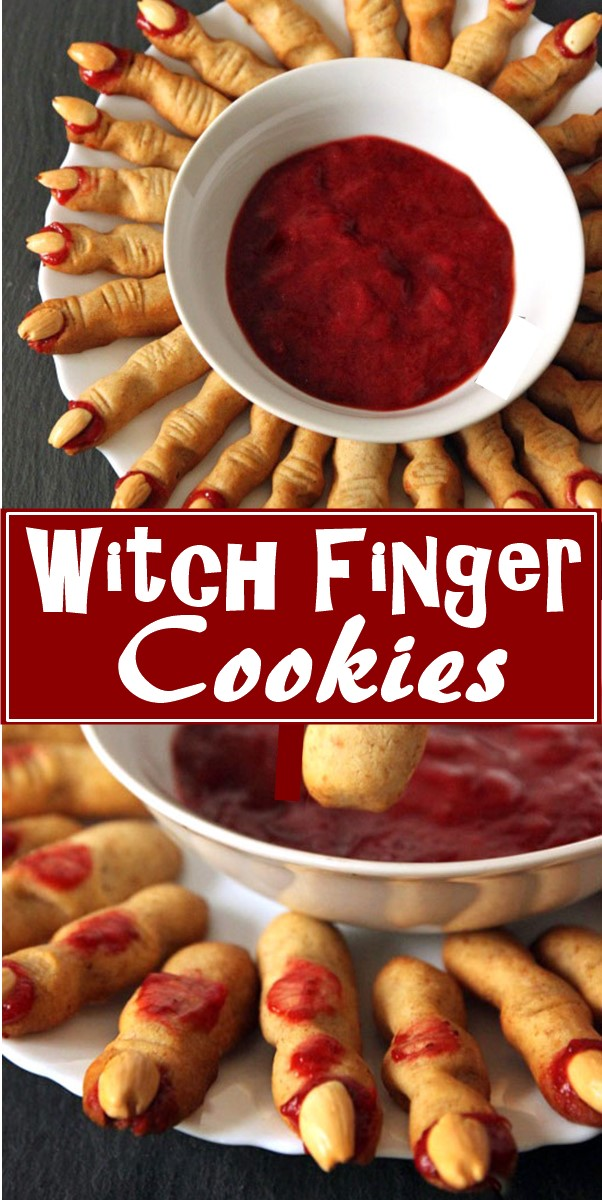 Witch Finger Cookies  #halloweenrecipes
