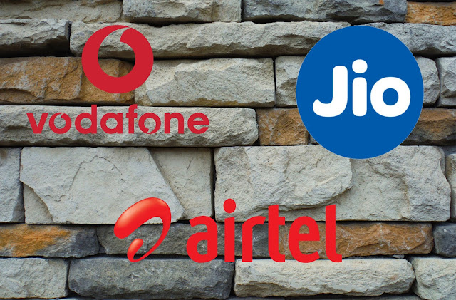 Reliance Jio, Airtel and Vodafone