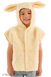 Lamb or Sheep Kids One Size Tabard Costume from Theatrical Threads Ltd