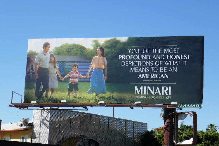 Minari movie billboard