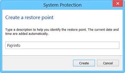 Membuat System Restore Point, Memulihkan Komputer Dengan System Restore Pada Windows 10