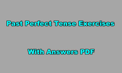 Past Perfect Tense Exercises With Aanswers PDF