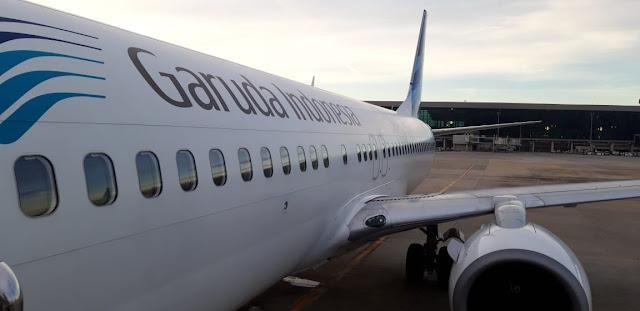 Garuda Indonesia di Terminal 3 Bandara Soekarno Hatta Tangerang Banten