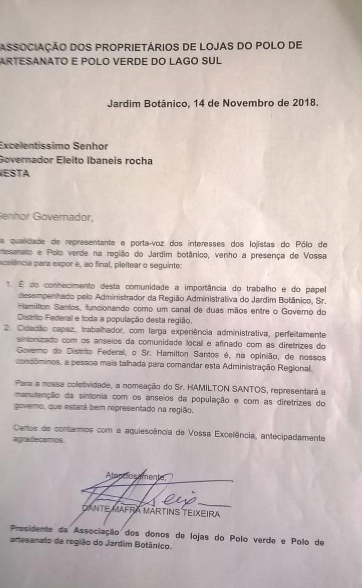 c818a50e dc6f 40a3 a65a 841c1db9bcd0 - A comunidade do Jardim Botânico e Jardins Mangueiral já sabe quem é o candidato a Administrador da nossa região conhece bem as necessidades da região e quer; Hamilton Santos como futuro Administrador Regional do JB.