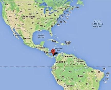 Panama dünya haritasında yeri. Panama Cumhuriyeti ülkesi neresi. Bu ülkenin yerini gösteren harita ve detaylar