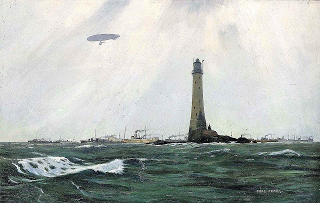 a WW2 supply ship escort by Charles Pears