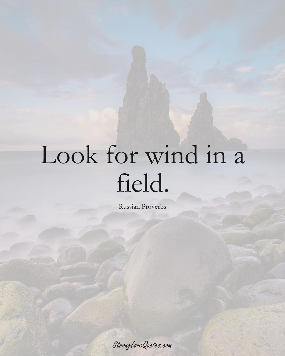 Look for wind in a field. (Russian Sayings);  #AsianSayings