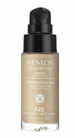 Fond de ten Revlon Colorstay pentru ten mixt-gras, 220 Natural Beige, 30 ml