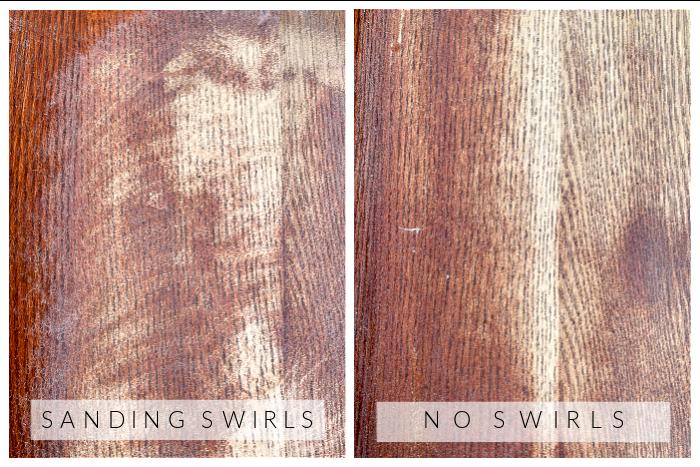 How to avoid sanding swirls